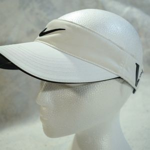 Nike Golf One Size Fits All White Visor, ONE, VR